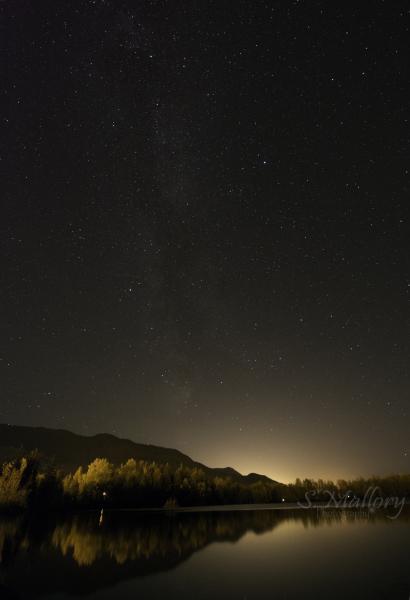 Reflections Lake Milky Way