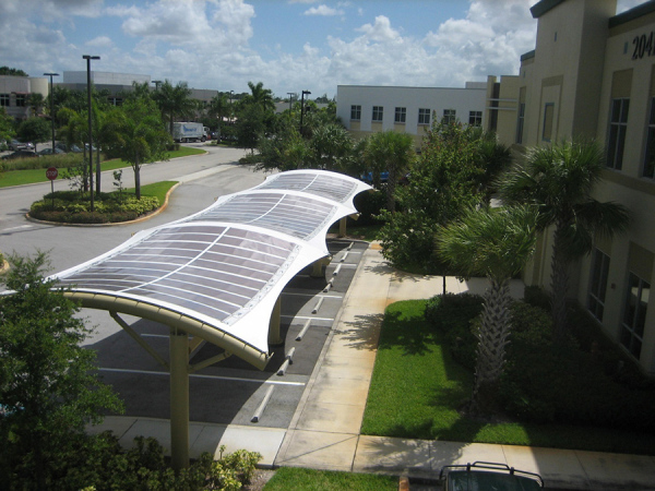 PV on fabric structures