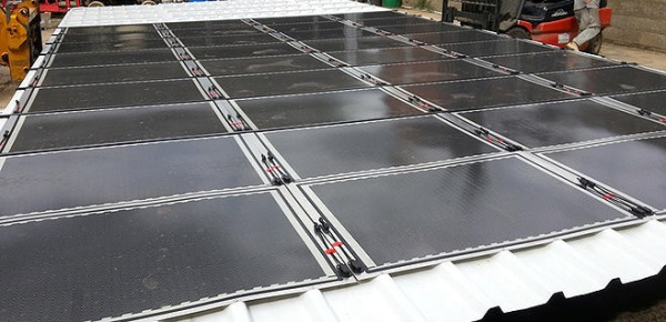Flexible PV on metal roofs