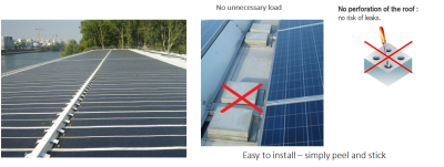 No penetration or Ballast on roofs