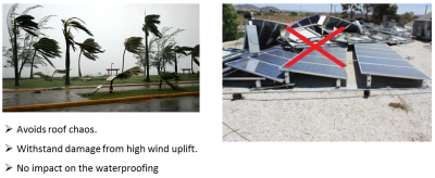 High resistance to wind and avoid roof chaos