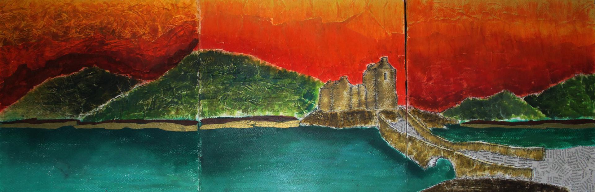 Abstract Eilean Donan Castle