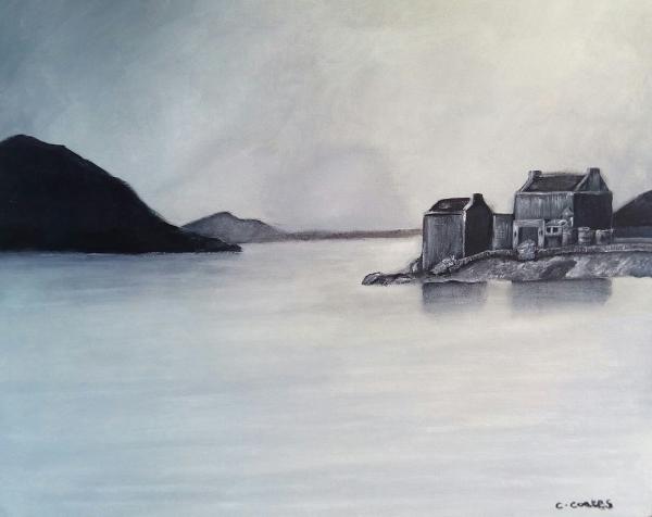Black and White Eilean Donan castle