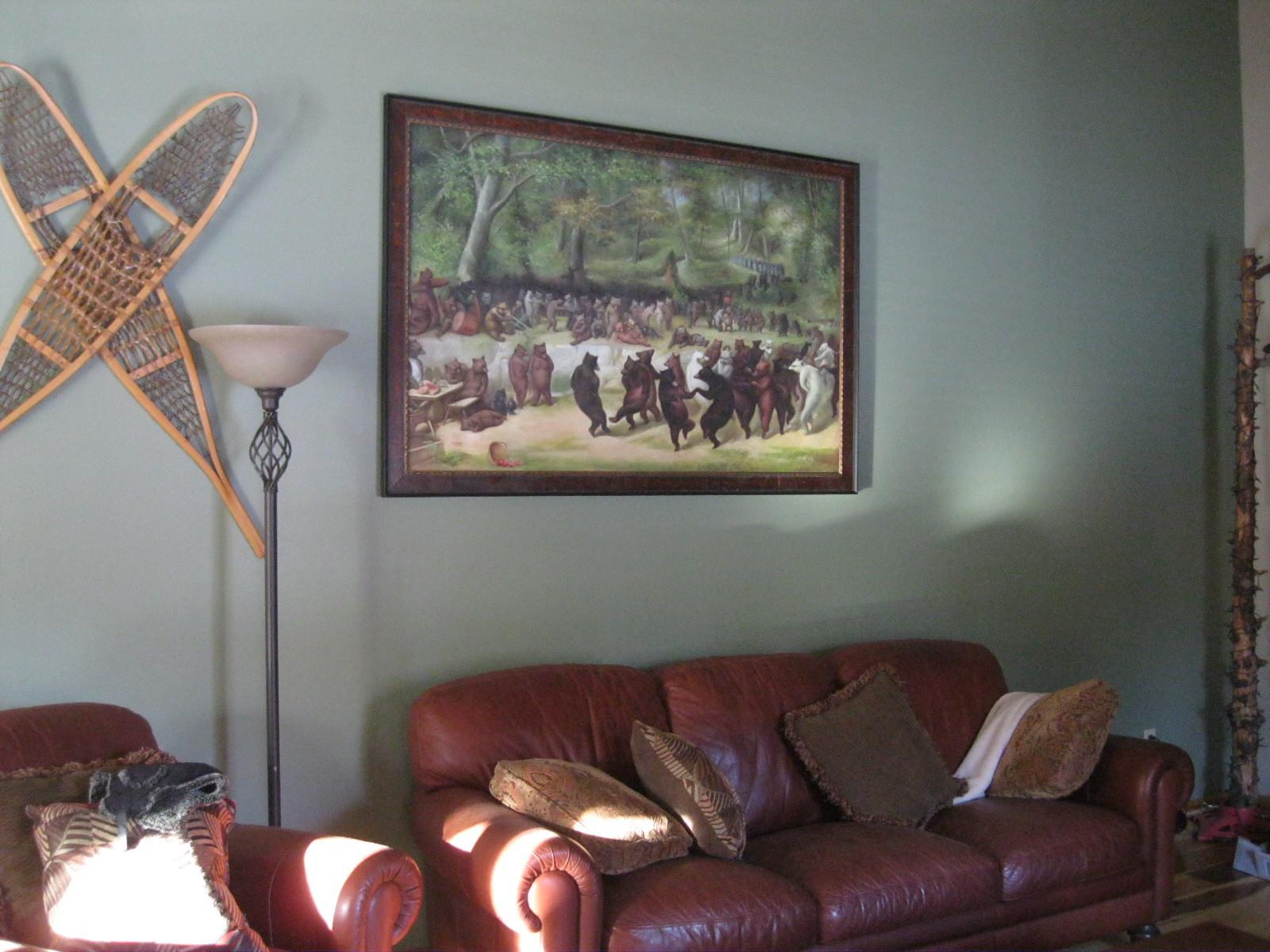Custom Fine Art Frame in Living Room
