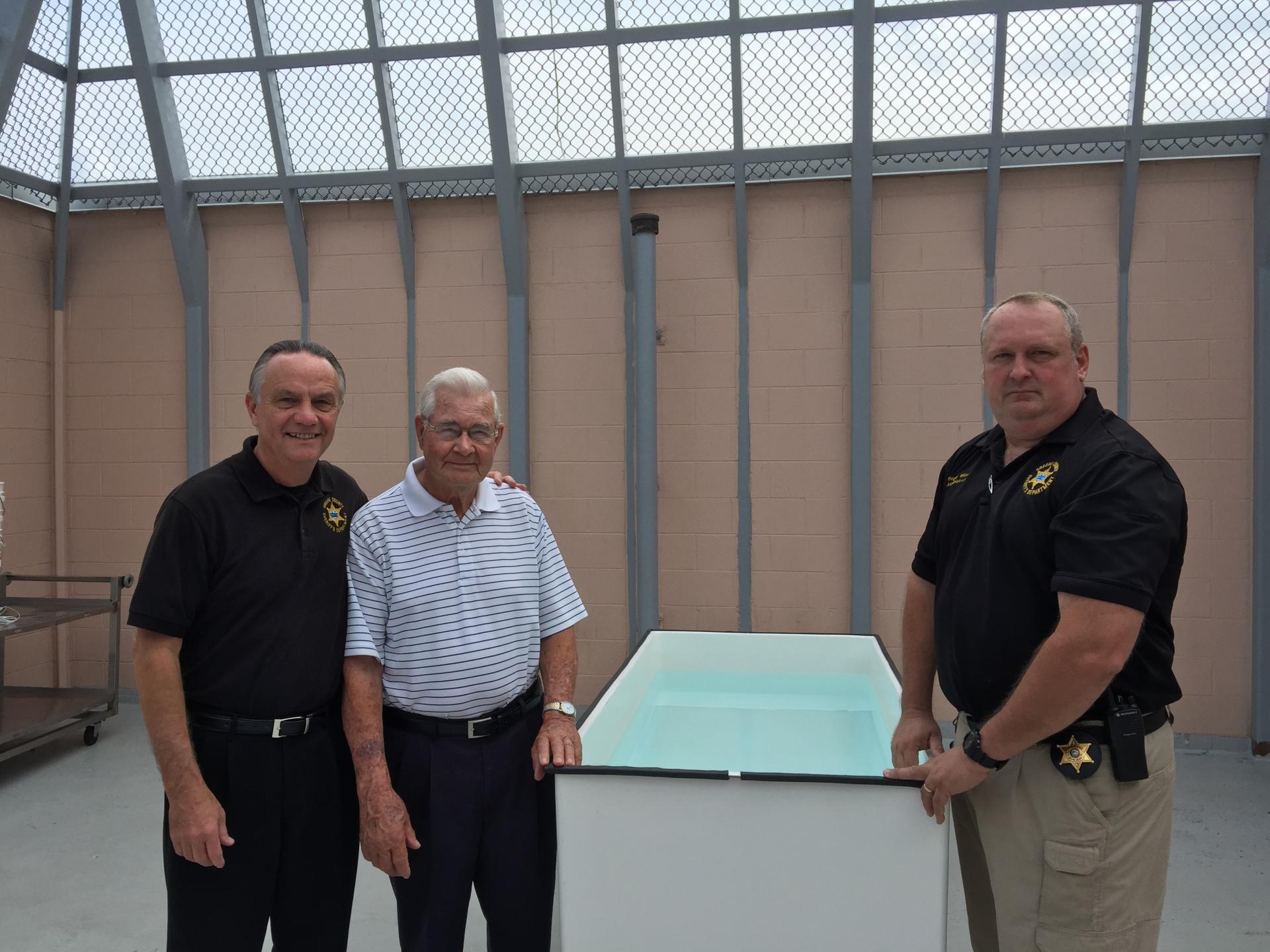 Water Baptism Service At Jail