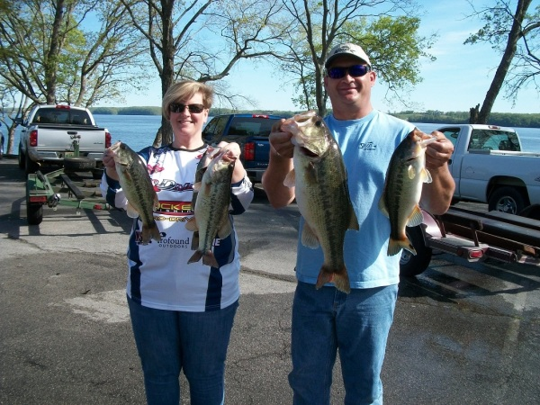 Tourney #3 Wilson Lake-2nd Place Team-Tina Woods/John Hill 16.99lbs & Big Fish 7.23lbs LM