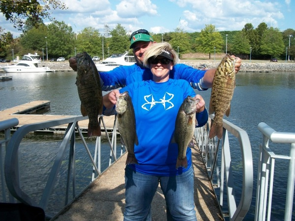 Tourney#10-Pickwick Lake 1st Place - John Hill/Tina Woods 18.65 lbs.