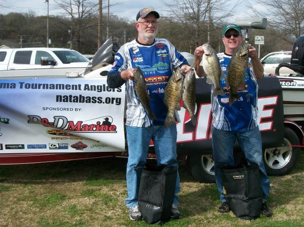 Tourney#2 Pickwick Lake-2nd Place : Jerry Dunn/Todd Cumming 22.60 lbs.