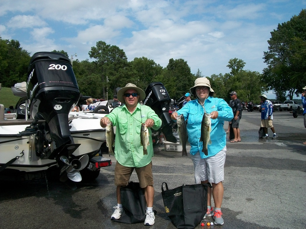 Tourney#8 Wilson Lake - 1st Place: Ishella Fogle and Andy Fogle - 9.27 lbs.