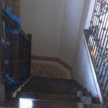 staircase refinish in progress