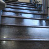 stair treads and risers custom stain