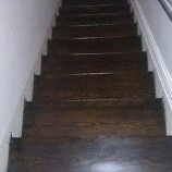 stair treads sand and finish
