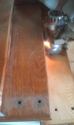 floor installation in progress
