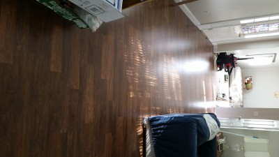 completed laminate installation