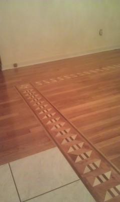 inlaid feature strip installed and finished