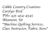 Cobble Country Creations