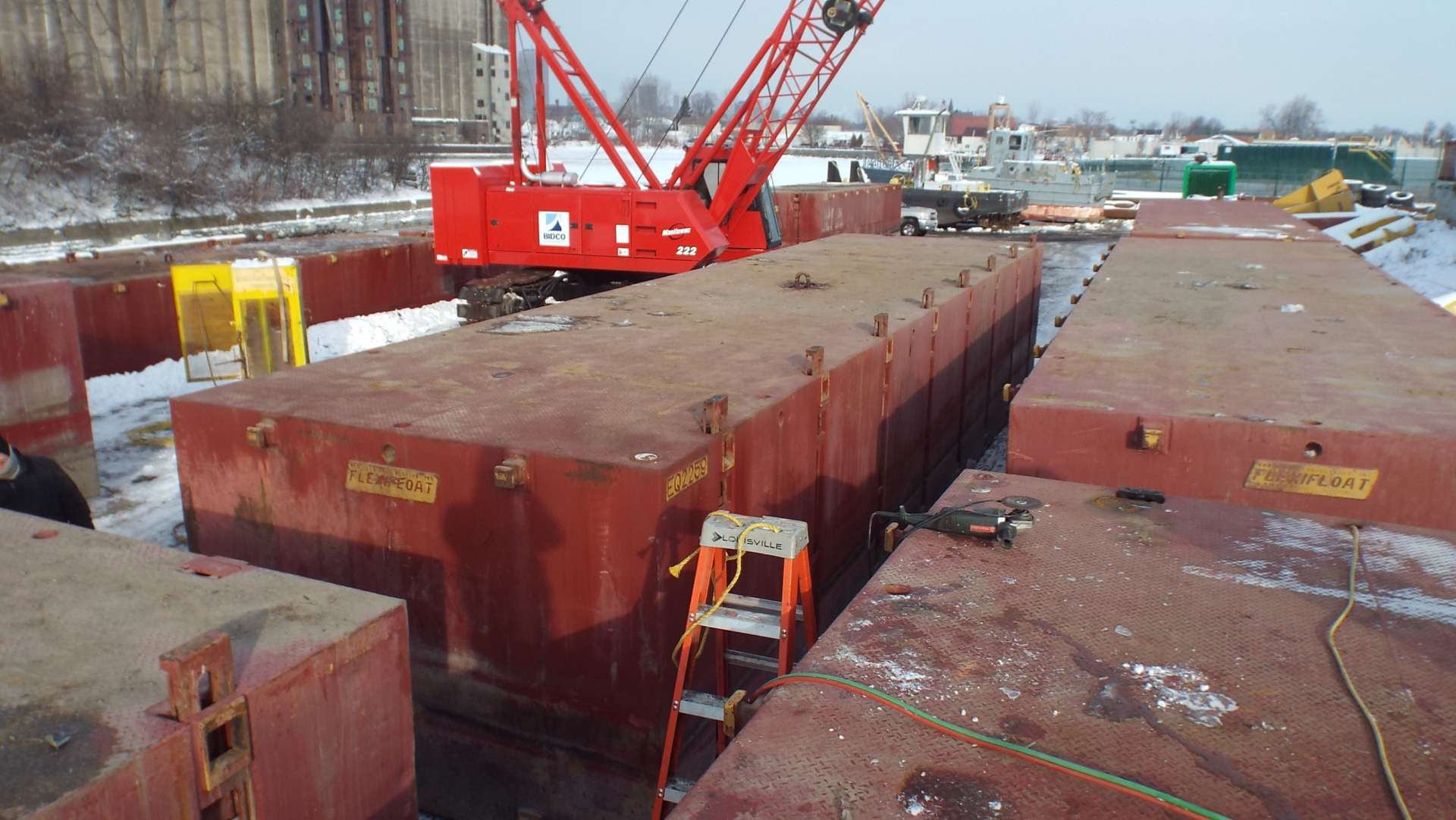 Flexi Float Barge Inspection