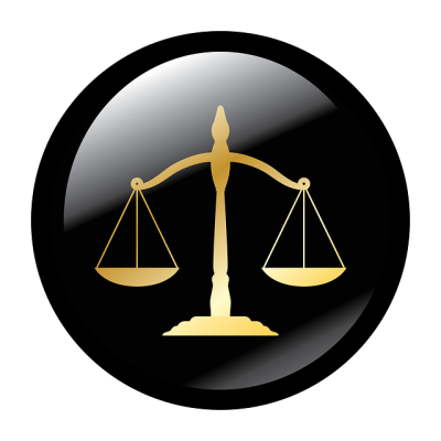 Scales of justice in divorce