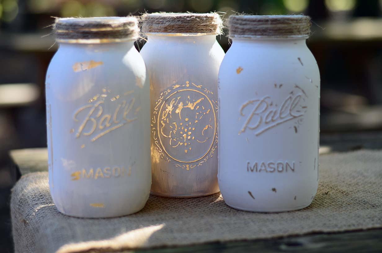 The Venue at Dawes Mobile Alabama wedding venue mason jars