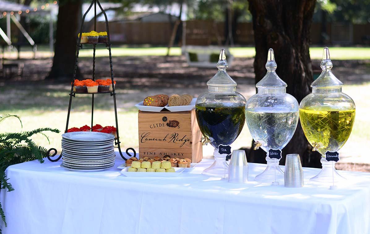 The Venue at Dawes Mobile Alabama wedding venue drink dispensers