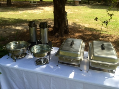 The Venue at Dawes Mobile Alabama wedding venue chafing dishes