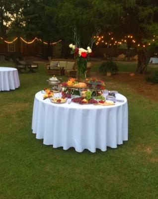 outdoor weddings linens decorations