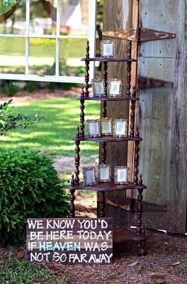 The Venue at Dawes Mobile Alabama wedding venue wooden shelf