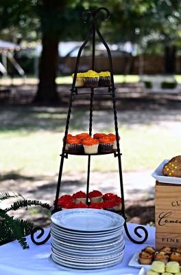 The Venue at Dawes Mobile Alabama wedding venue cupcake stand