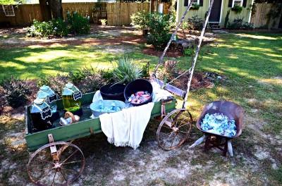 The Venue at Dawes Mobile Alabama wedding venue old wagon