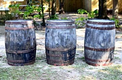 The Venue at Dawes Mobile Alabama wedding venue whiskey barrel