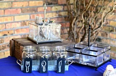 The Venue at Dawes Mobile Alabama wedding venue utensil holders
