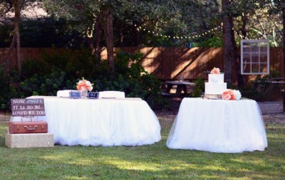 The Venue at Dawes Mobile Alabama wedding venue linen burlap tuele