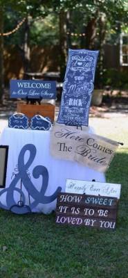 The Venue at Dawes Mobile Alabama wedding venue signs