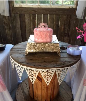 Square silver cake stand $20