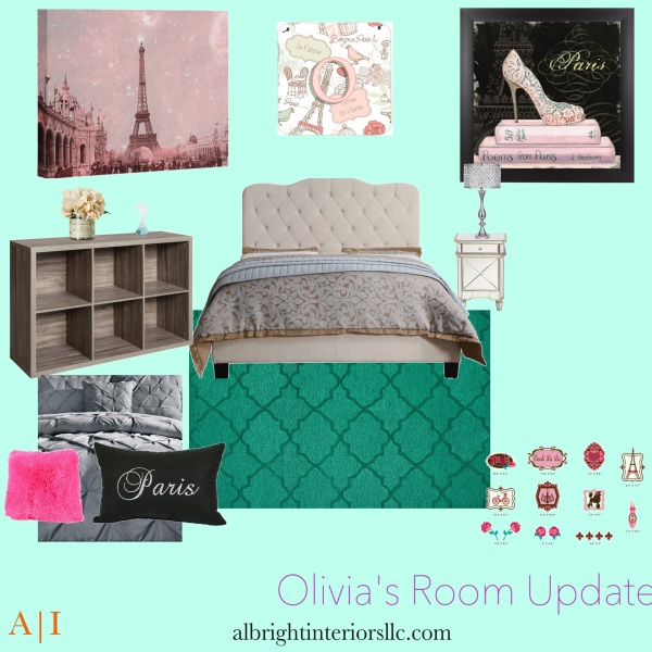 Tween Paris Themed Mood Board