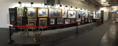 Stand dell'artista Giulio Tasca (www.giuliotasca.it) | Riva Expo Caccia Pesca Ambiente 2016