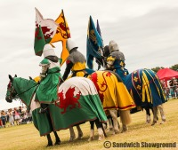Knights of the damned, Medieval Fayre, Jousting, Sandwich Showground