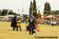 Knights of the damned, jousting, Medieval Fayre, Sandwich Showground, East Kent, Event