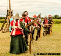 Firing of the guns, Medieval Siege Society, Medieval Fayre, Sandwich Showground, East Kent events