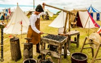 Medieval trader, Medieval Siege Society, Sandwich Showground, East kent, events