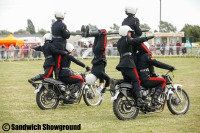 Royal Signals White Helmets motor bike display team, Sandwich Showground, East Kent events