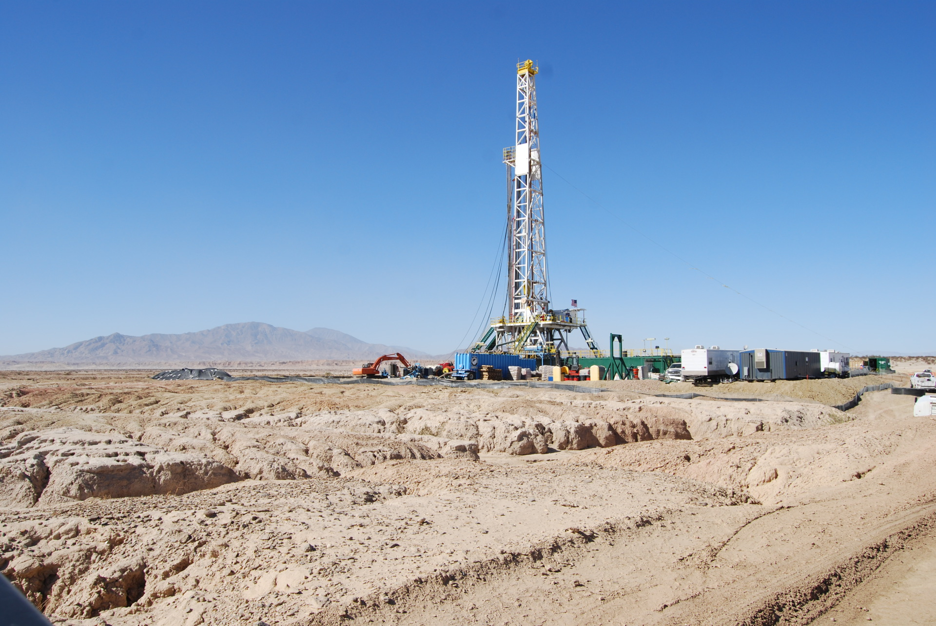 drilling well pad construction