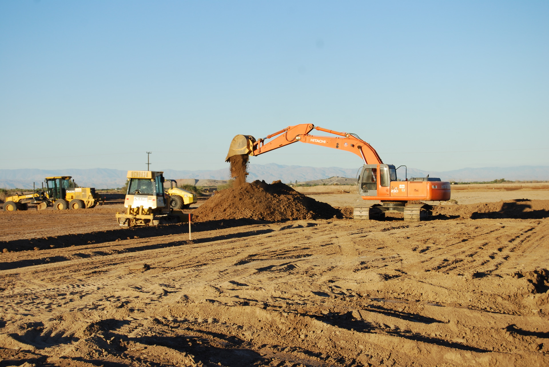 Primo Construction and Services Backhoe
