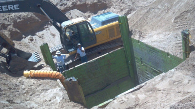 excavation well casing repair