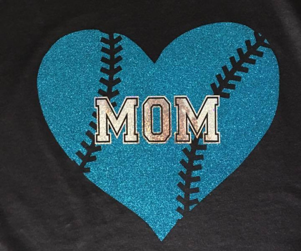 Mom Baseball Heart 1 - $25