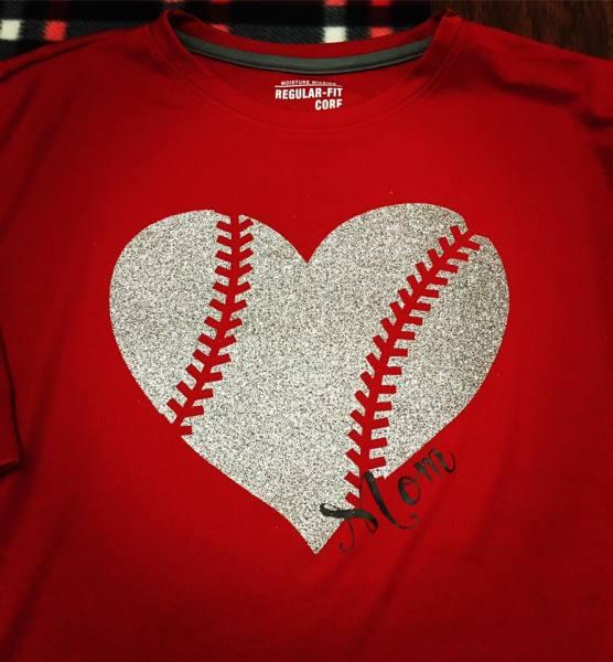 Mom Baseball Heart 2 - $25