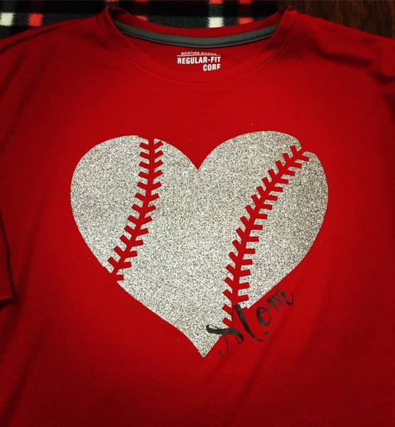 Mom Baseball Heart 2 - $25