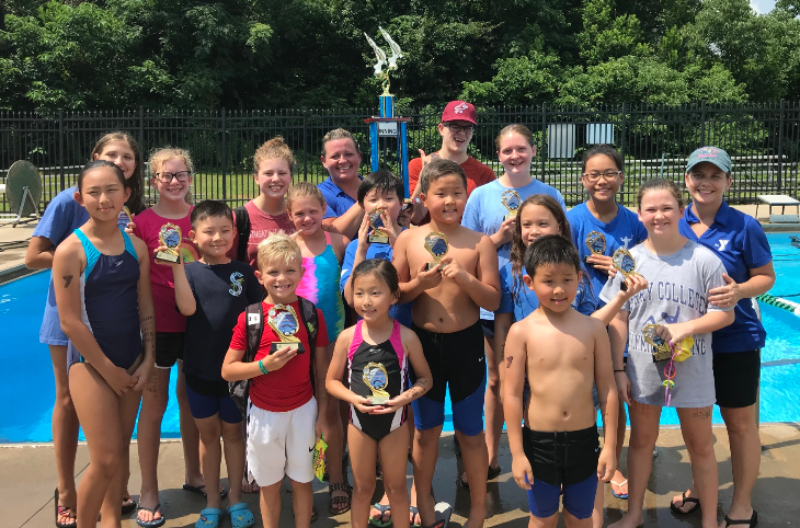 Members of the Summit Family YMCA Titans swim team finished second this month at Griffin