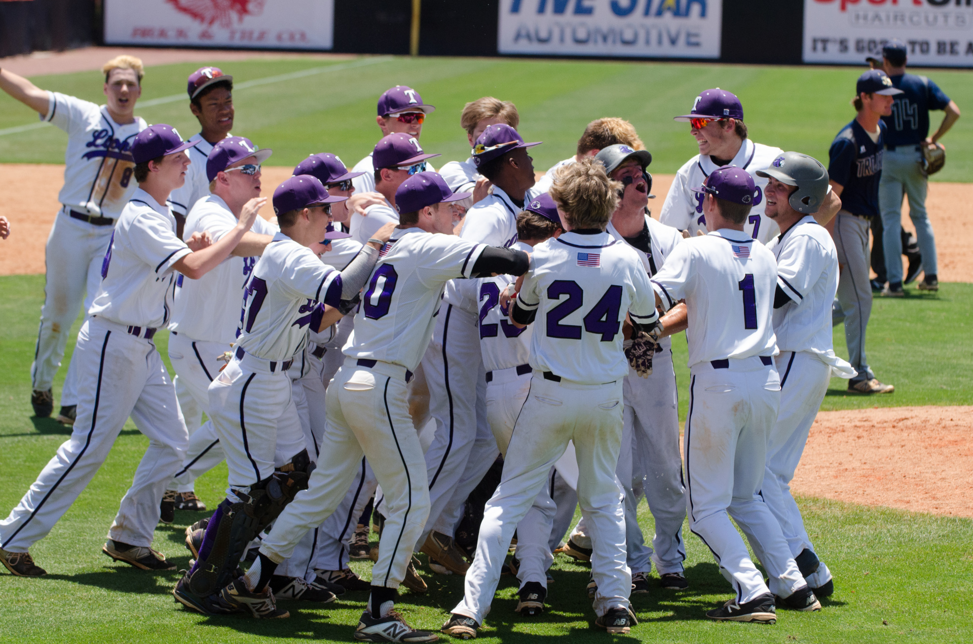 Trinity Christian celebrated a walk off win in Game 2 in extra innings, but fell short in Game 3.