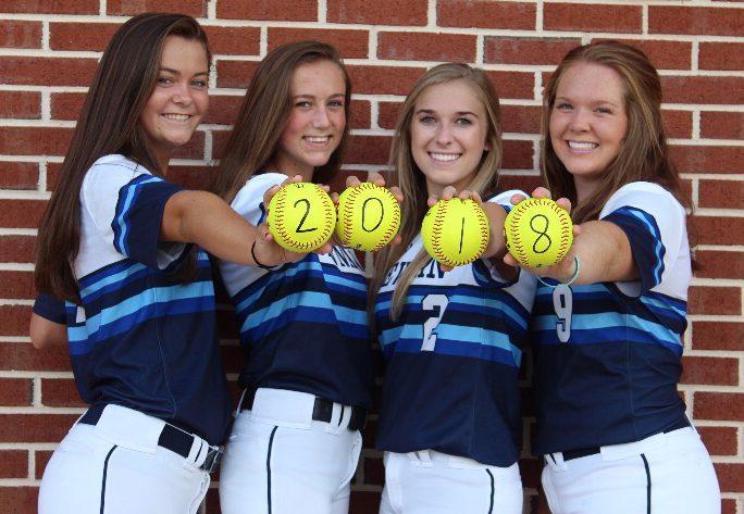 Special photo: Newnan seniors  Addie Andrews, Paige DePoi, Marleigh Williamson and Darby Keene .
